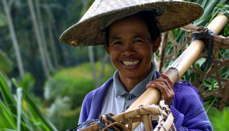 The Balinese are a friendly, gleeful and hospitable bunch of people