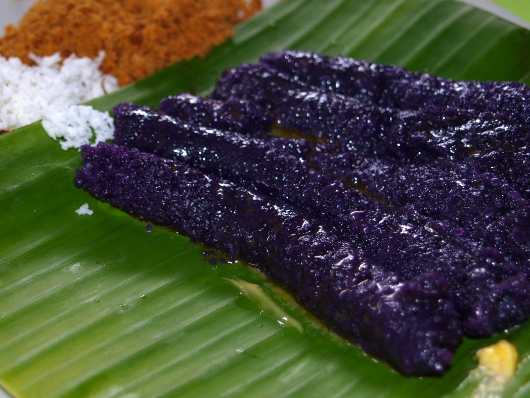 A delicious serving of Puto Bumbong in Manila