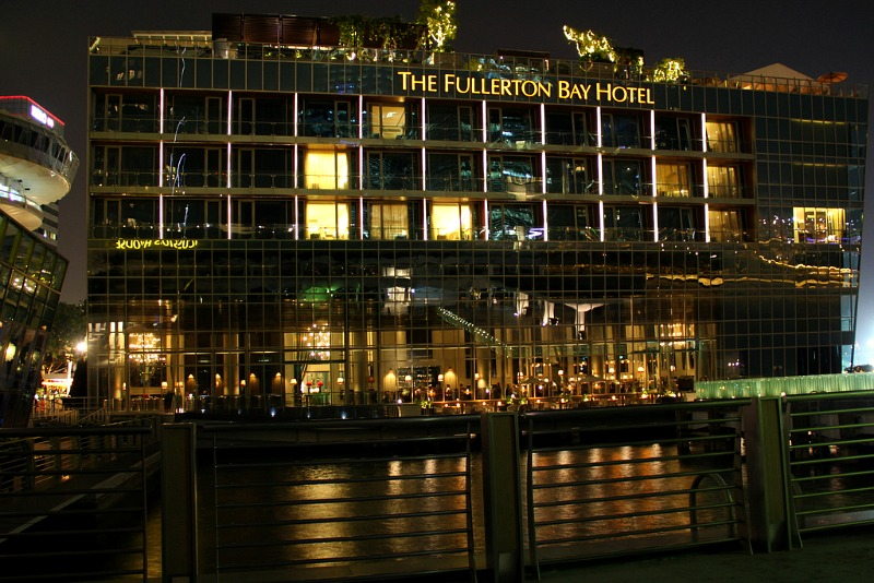 The glitzy Fullerton Bay Hotel