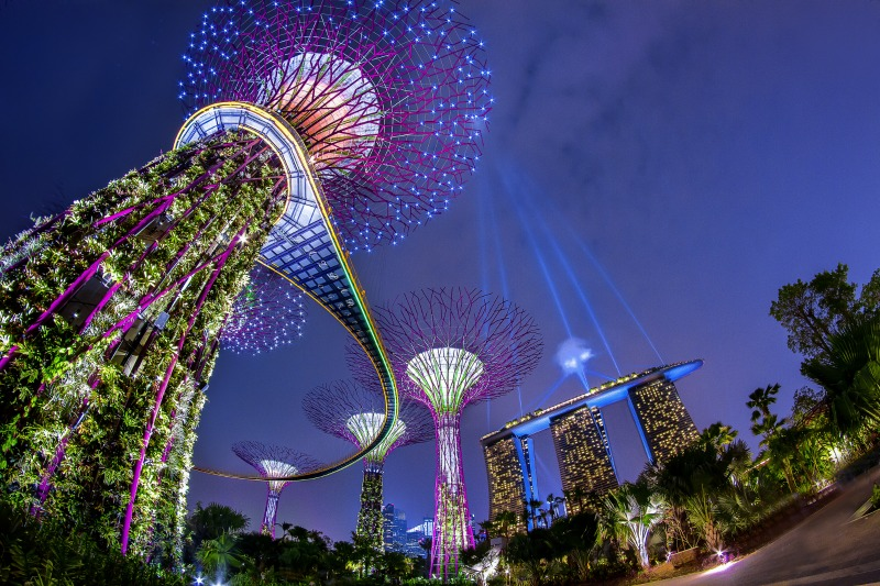 A dazzling light show at Gardens by the Bay