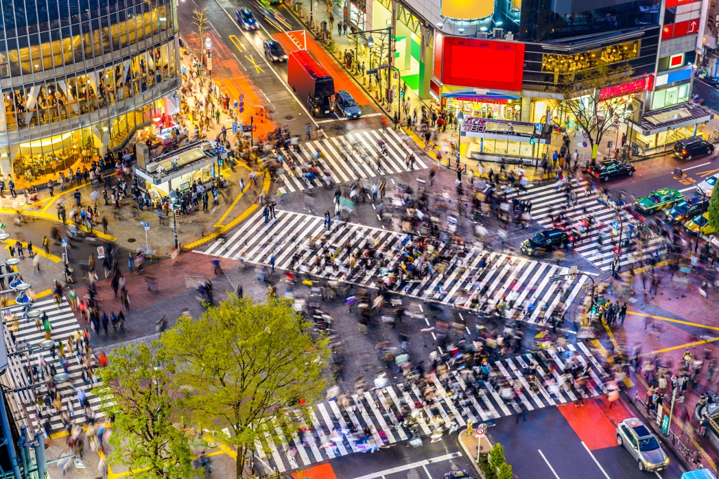 The bustling and colorful streets of Tokyo, Japan