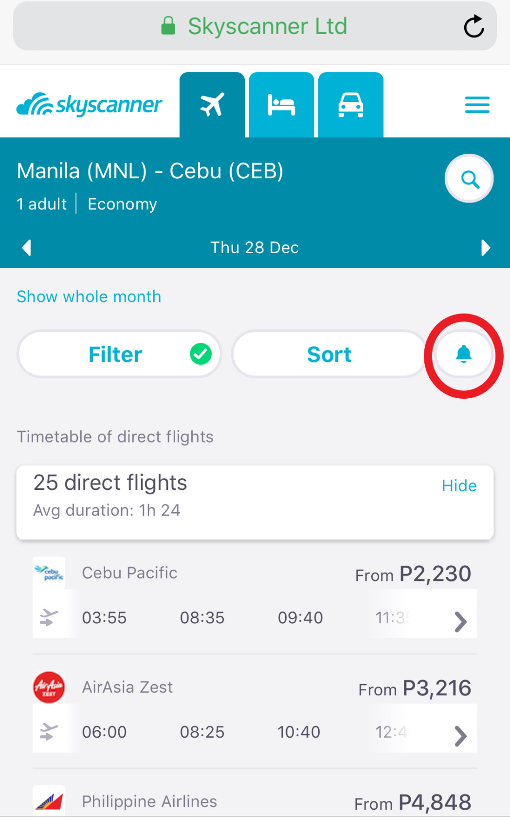 Price alerts are a great tool for budget travelers