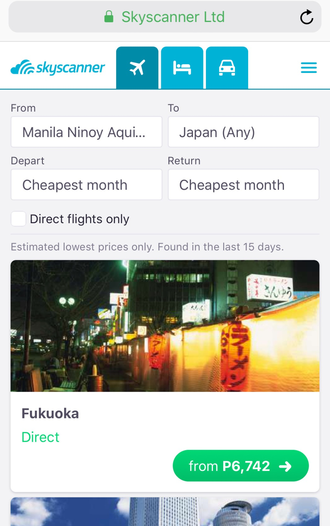 A list of affordable flights to the United States